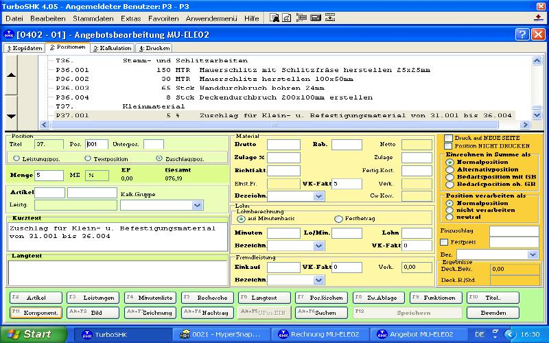 windows 7 software f r handwerker angebot kalkulation rechnung. Black Bedroom Furniture Sets. Home Design Ideas