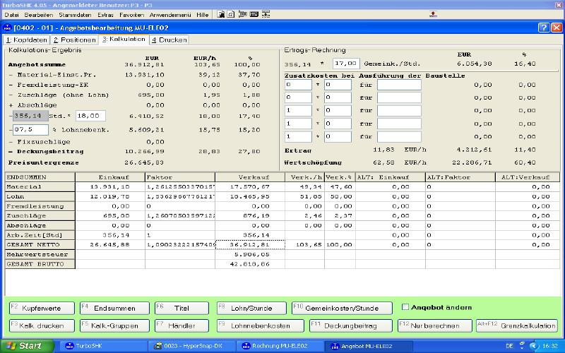 windows 7 software f r handwerker angebot kalkulation. Black Bedroom Furniture Sets. Home Design Ideas